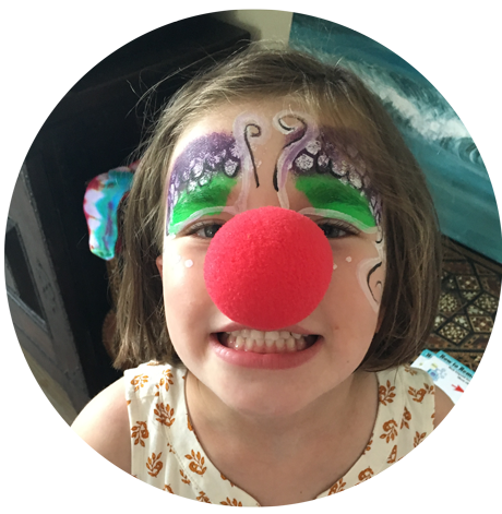 Cleo the clown clowns face painters balloonists for Face painting clowns for birthday parties