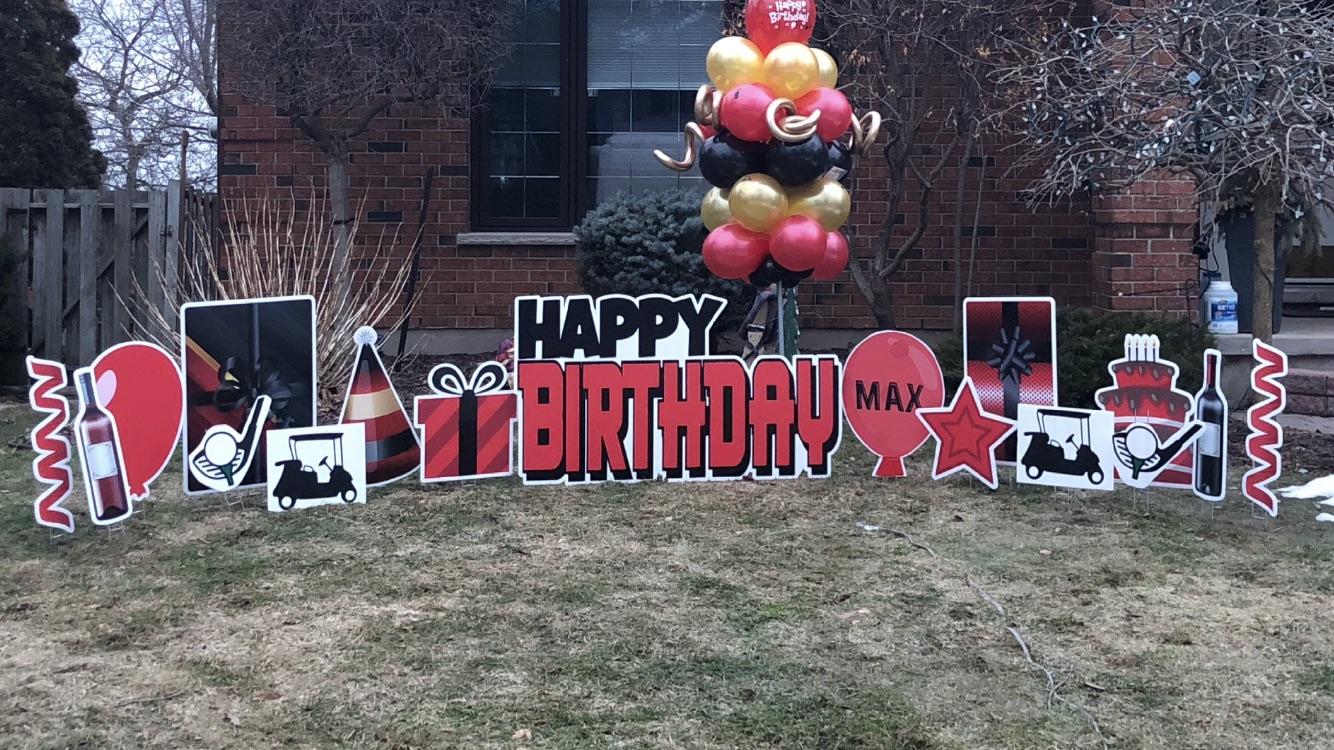 Yard sign Birthday Signs