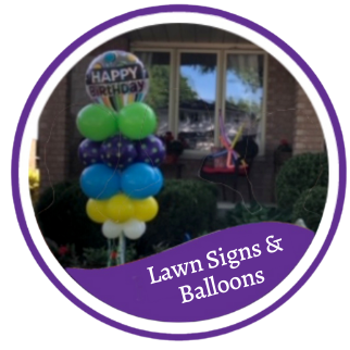 Lawn signs & balloons (3)