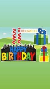 Pop Art themed Happy Birthday LAwn Signs