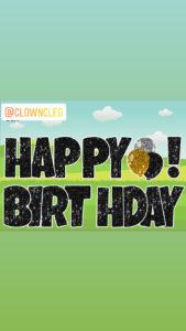 Happy Birthday Lawn Signs Black