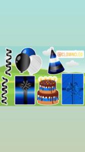 Birthday Lawn Sign Classic blue