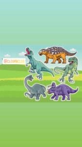 Dinosaur Roar Lawn Signs