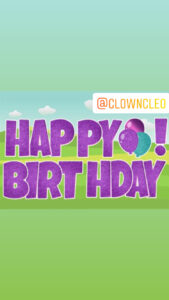Lawn Sign Happy Birthday Letters purple