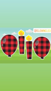 Lawn Signs accent flairs buffalo plaid